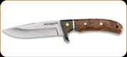Boker - Elk Hunter - 10cm Blade - Stainless Steel - Rosewood Handle - Includes Leather Sheath - 02GL683C
