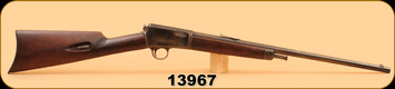 """Consign - Winchester - 22 Win Auto - Model 1903 - 20"""", Crack in Stock, Missing Tang Screw"""
