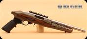 "Ruger - 22 Charger - 22LR - Lam/SS, Takedown, 10"" c/w UTG Bipod, 10 Rnd Ruger Mag"