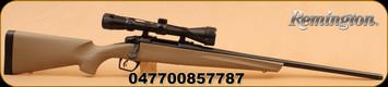 "Remington - 783 - 243Win - FDE Syn Stock, 22"" Bl Brl, Adj Trigger, 3-9x40 Scope"