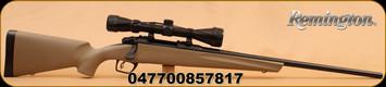 "Remington - 783 - 308Win - FDE Syn Stock,  22"" Bl Brl, Adj Trigger, 3-9x40 Scope"