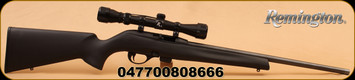 "Remington - 597 - 22LR - SemiAuto, Bl Syn Stock, 20"" Bl Brl, 10 shot mag, 3-9x32 scope"