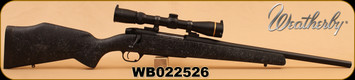 """Consign - Weatherby - 35Whelen A.I. - Mark V Ultralight Wby Stock, 18"""" Pacnor Barrel, Action Trued & Bedded C/W VX3 2.5-8x32, dies & brass, Built by Corlanes"""