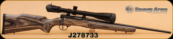 """Consign - Savage - 17Wsm - B-Mag - 22"""" Bl Brl, Wd Lam Stock, Accutrigger, C/W Bushnell Banner 6-24x40, 60 rounds"""