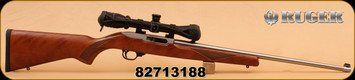 """Consign - Ruger - 22LR - 10/22 Sporter - 22"""" S/S Brl, Wlnt Stock, Upgraded BX Trigger, C/W Redfield Battlezone 2-7x34, shock buffer, unfired"""