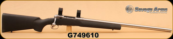 """Consign - Savage - 204Ruger - Model 12 - SYN Stock, SS 26"""" Heavy Barrel, C/W Weaver 6 Skrew Rings, Accutrigger, Approx 20 Rounds"""