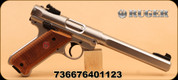 """Ruger - Mark IV Competition - 22LR - S/S 6.88"""" Bull Brl, 2-10rnd mags, Checkered/Lam grips"""