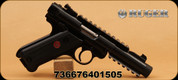 """Ruger - Mark IV Tactical - 22LR - 4.4"""" Bl/Blk, 2-10rnd mags, Checkered/Syn grips"""