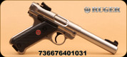 """Ruger - Mark IV Target - 22LR - 5.5"""" S/S Bull Brl, Check/ Syn Grip, 2 Mags"""