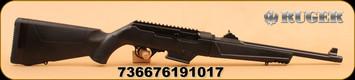"""Ruger - PC Carbine - 9mm Luger - BlkSyn, 16"""" - Restricted"""