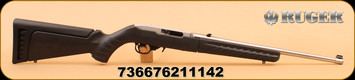 """Ruger - 10/22 - 22LR - Takedown - BlkSyn/SS, 18.5"""""""
