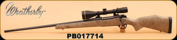 """Consign - Weatherby - 257Wby Mag - MK V Ultralight LH - Monte Carlo comp stock/Fluted, blackened stainless steel 26""""bbl, c/w Leupold VX-3i 4.5-14x50, talley light weights, RCBS FL Dies, 20 Brass, 40rds Ammo"""