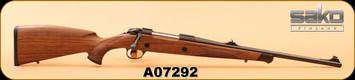 """Consign - Sako - 9.3x62 - 85M Bavarian - Wd/Bl, 20"""", set trigger, c/w Sako rings & mount, Leica ER 2.5-10x42, 4A/German Reticle"""
