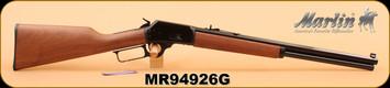"Marlin - 45 Colt - 1894 Cowboy - Lever Action, Walnut Stock/Bl, 20"" Octagon Barrel, Buckhorn sights"