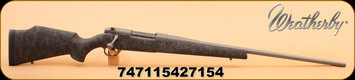"""Weatherby - MK V Weathermark - 257 Wby Mag - Black Synthetic Stock with Grey Spiderweb Accents/Tactical Grey Cerakote, 26"""""""