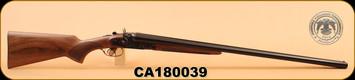 """Huglu - 201 - 12Ga/3""""/30"""" - Wd/Bl/Case Colored Receiver, HRZ Hammer, S/N CA180039"""