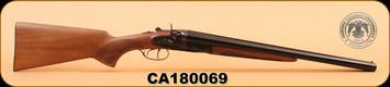 """Huglu - 201 - 12Ga/3""""/20"""" - Wd/Bl/Case Colored Receiver, HRZ Hammer, S/N CA180069"""