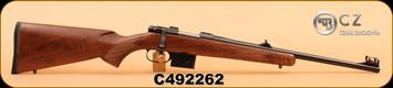 """CZ - 527M Carbine - 7.62x39 - Straight comb Turkish walnut stock/Bl, 18.5"""", S/N C492262"""