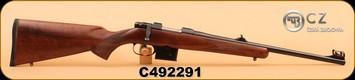 """CZ - 527M Carbine - 7.62x39 - Straight comb Turkish walnut stock/Bl, 18.5"""", S/N C492291"""