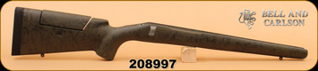 Bell and Carlson - Remington 700 BDL - Long Range Sporter, Adjustable Cheekpiece, LA - Olive Green w/Black Spiderweb