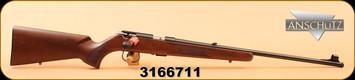 "Anschutz - 1416D KL - 22LR - Single Stage Trigger, Classic Beavertail Stock/Blued Finish, 23"" Threaded Barrel, S/N 3166711"