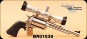 """Consign - Magnum Research - 500 S&W Mag - BFR - Blk grips/SS, Long Cylinder, 7.5"""", Leupold VX-3 2.5-8x32 Handgun"""