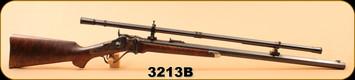 "Consign - Shiloh Sharps - Model 1874 - 45/70 - Wd/Case Color Receiver/Blued 30"" Heavy Octagon barrel, c/w MVA Scope & Mounts - Installed at Shiloh Sharps, c/w wooden case"