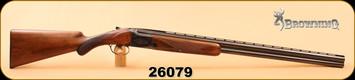 "Consign - Browning - 12ga/2.75""/30"" - Superposed - Wd/Bl, Fixed Chokes, F/M, Round knob long tang"