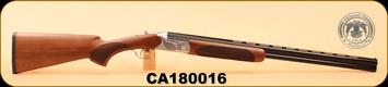 "Huglu - 103D - 28Ga/2.75""/26"", O/U, Turkish Walnut/Bl, Silver Receiver, M.Choke, S/N CA180016"