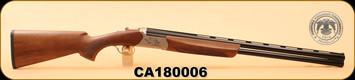 "Huglu - Ventus - 12Ga/3""/28"", O/U, Turkish Walnut/Bl/Bronze Receiver, 5 LI VENTUS Mobile Shock Set,  M.Choke, s/n CA180006"