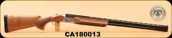 "Huglu - TRP DLX - 12Ga/3""/32"", O/U, Turkish Walnut/Bl/Engraved Silver Receiver, Adjustable Stock, M.Choke S/N CA180013"