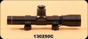 Consign - Leupold - M8 - 2x20mm - Duplex - Extended E.R. Handgun Scope, c/w QRW Rings, S/N 130250C