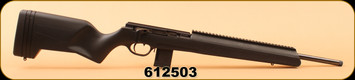 "ISSC - SCOUT SR - 22 LR - Black Polymer, UNF Threaded 20"", Straight pull action rifle, Full length rail up front"