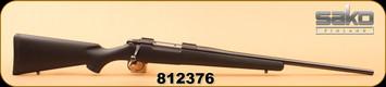 """Consign - Sako - 30-06 - AV - Blk Fiberglass/Blued, 23"""", Never Fired"""