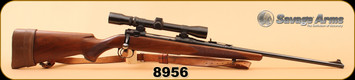 """Consign - Savage - 270Win - Model 110 - Wd/bl, 22"""", c/w leather sling, brown leather soft case, 2.5-7x32 scope"""