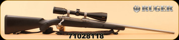 """Consign - Ruger - 338 Win Mag - M77 Hawkeye - BlkSyn/SS, 24"""", c/w Synthetic Sling, Nikon Monarch 2.5-10x50"""