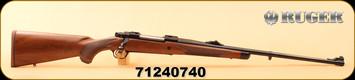 """Ruger - 6.5x55Swedish - M77 Hawkeye African - American Walnut with Ebony Forend Cap/Satin Blued Alloy Steel, 24"""", S/N 71240740"""