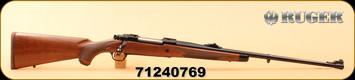 """Ruger - 6.5x55Swedish - M77 Hawkeye African - American Walnut with Ebony Forend Cap/Satin Blued Alloy Steel, 24"""", S/N 71240769"""