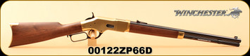 "Winchester - 44-40Win - 1866 Short - Yellow Boy - Grade I American Black Walnut/Blued Finish/Brass Receiver/Butt Plate, 20"", Folding rear sight, Gold Bead front sight, S/N 00122ZP66D"