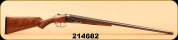 "Consign - Parker Bros - 16Ga/2.5""/28"" - Trojan SXS -Wd/Bl, Double Triggers, Modified & Full (1925)"