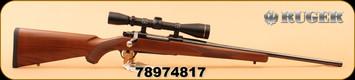 """Used - Ruger - 350RemMag - M77 Mark II - Wd/Bl, 22"""", c/w Leupold VX-II 3-9X40 Duplex"""
