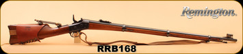 "Consign - Remington - 50/70 - Rolling Block - Wd/Bl, 36"", Kelly Soule Sight, Kelly front sight, leather shoulder strap"