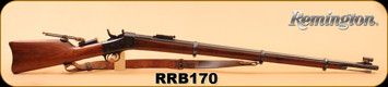 "Consign - Remington - 43Spanish - Rolling Block - Wd/Bl, 36"", Kelly Soule Sight, Kelly front sight, leather shoulder strap"