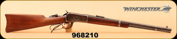 "Consign - Winchester - 25-20WCF - Model 1892 Carbine, Lever Action, Wd/Bl, 20"", c/w Hand Tooled Leather Rifle Scabbard"