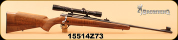 "Consign - Browning - 243 - Safari - Sako Action - Wd/Bl, 22.5"", c/w Redfield Widefield 2-7x Duplex - Scope & Rifle can be sold separately"