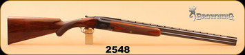 "Consign - Browning - 20Ga/2.75""/26"" - Superposed - Wd/Bl - Early Production 1950 - c/w luggage case"