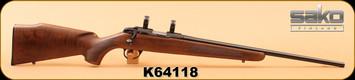 "Used - Sako - 17HMR - Finnfire II - Wd/Bl, 22"", c/w 1"" Leupold scope rings"