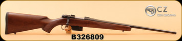 "CZ - 223Rem - 527 American - American-style Turkish Walnut/Bl, 22"", single set trigger, No Sights, Integrated 16mm Scope Bases"