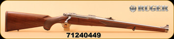 Ruger - 260Rem - M77 Hawkeye Standard - Mannlicher American Walnut/Brushed Stainless, 18.5, LC6 Trigger, Mfg #: 47185, S/N 71240449