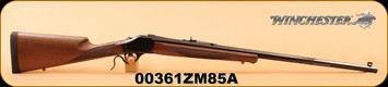 "Winchester - 375H&HMag - Model 1885 High Wall Safari - Single-Shot Lever Action, Black Walnut/Gloss blued, 28"" Octagon, Pachmayr Decelerator recoil pad; Schnabel forearm"
